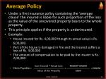 average policy
