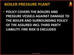boiler pressure plant