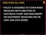 erection all risk