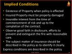 implied conditions