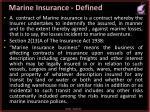 marine insurance defined