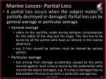 marine losses partial loss