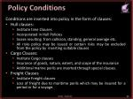 policy conditions