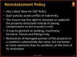 reinstatement policy