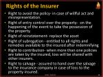 rights of the insurer