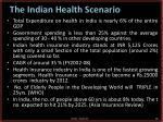 the indian health scenario