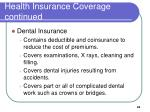 health insurance coverage continued2