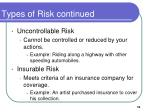 types of risk continued3
