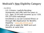 medicaid s new eligibility category