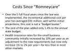 costs since romneycare