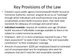 key provisions of the law