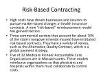 risk based contracting