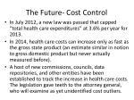 the future cost control