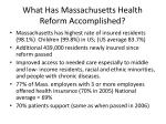 what has massachusetts health reform accomplished