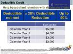 deductible credit