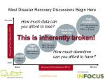 most disaster recovery discussions begin here6
