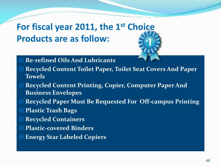 For fiscal year 2011, the 1