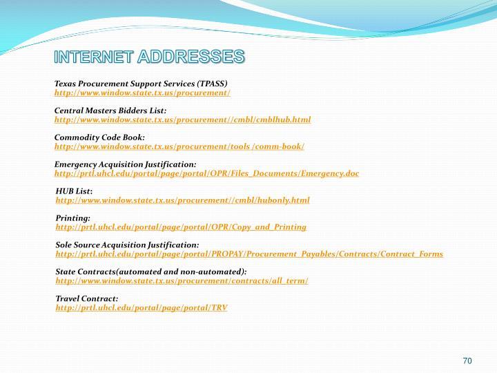 Texas Procurement Support Services (TPASS)