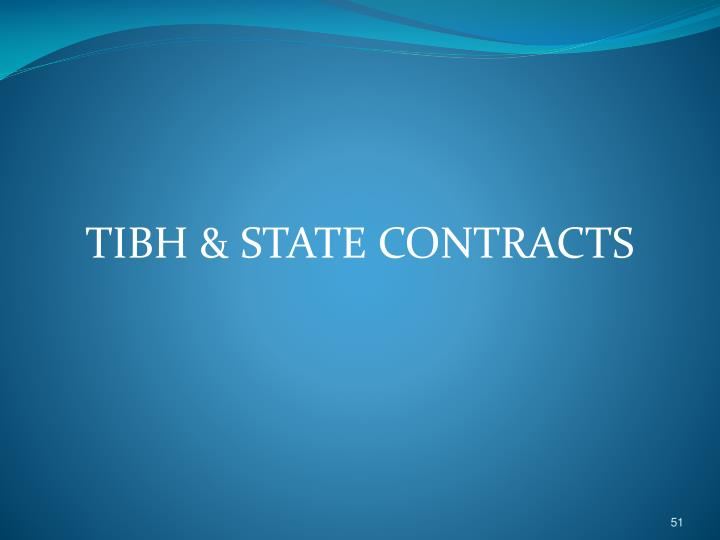 TIBH & STATE CONTRACTS