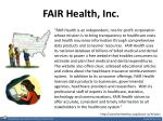 fair health inc