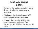 gottfried s aco bill a 8869