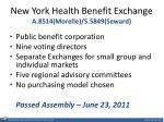 new york health benefit exchange a 8514 morelle s 5849 seward