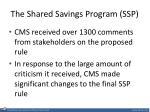 the shared savings program ssp2