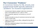 the 5 conversion problems