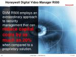 honeywell digital video manager r50011