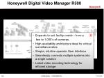honeywell digital video manager r50014