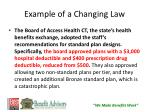 example of a changing law