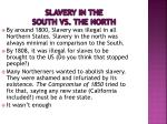 slavery in the south vs the north