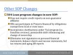 other sop changes1