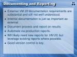 documenting and reporting