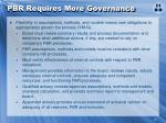 pbr requires more governance