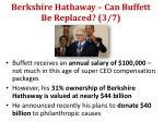 berkshire hathaway can buffett be replaced 3 7