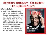 berkshire hathaway can buffett be replaced 4 7