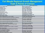 fort meade regional growth management team points of contact
