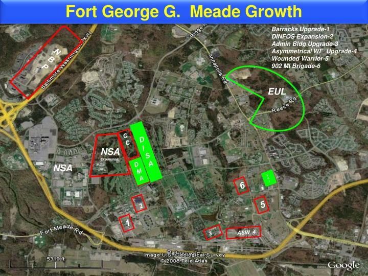Fort George G.  Meade Growth