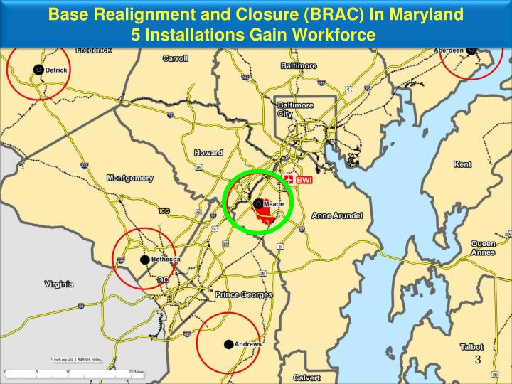 Base Realignment and Closure (BRAC) In Maryland