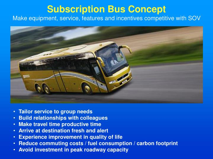 Subscription Bus Concept