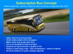 subscription bus concept make equipment service features and incentives competitive with sov