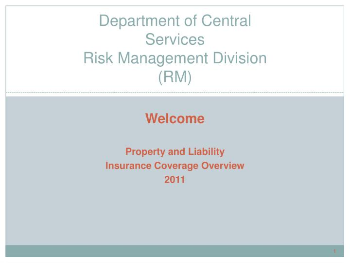 department of central services risk management division rm n.
