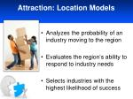 attraction location models