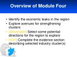 overview of module four