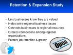 retention expansion study