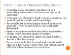 principles of organization design