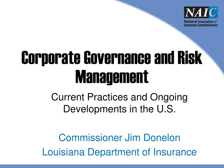 corporate governance and risk management n.