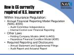 how is cg currently required of u s insurers3