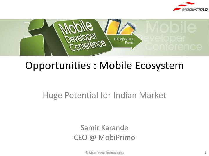 opportunities mobile ecosystem n.